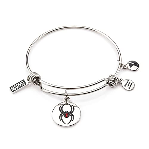 Resultado de imagen de MARVEL - Women's Stainless Steel Black Widow Expandable Charm Bracelet : P.Derive