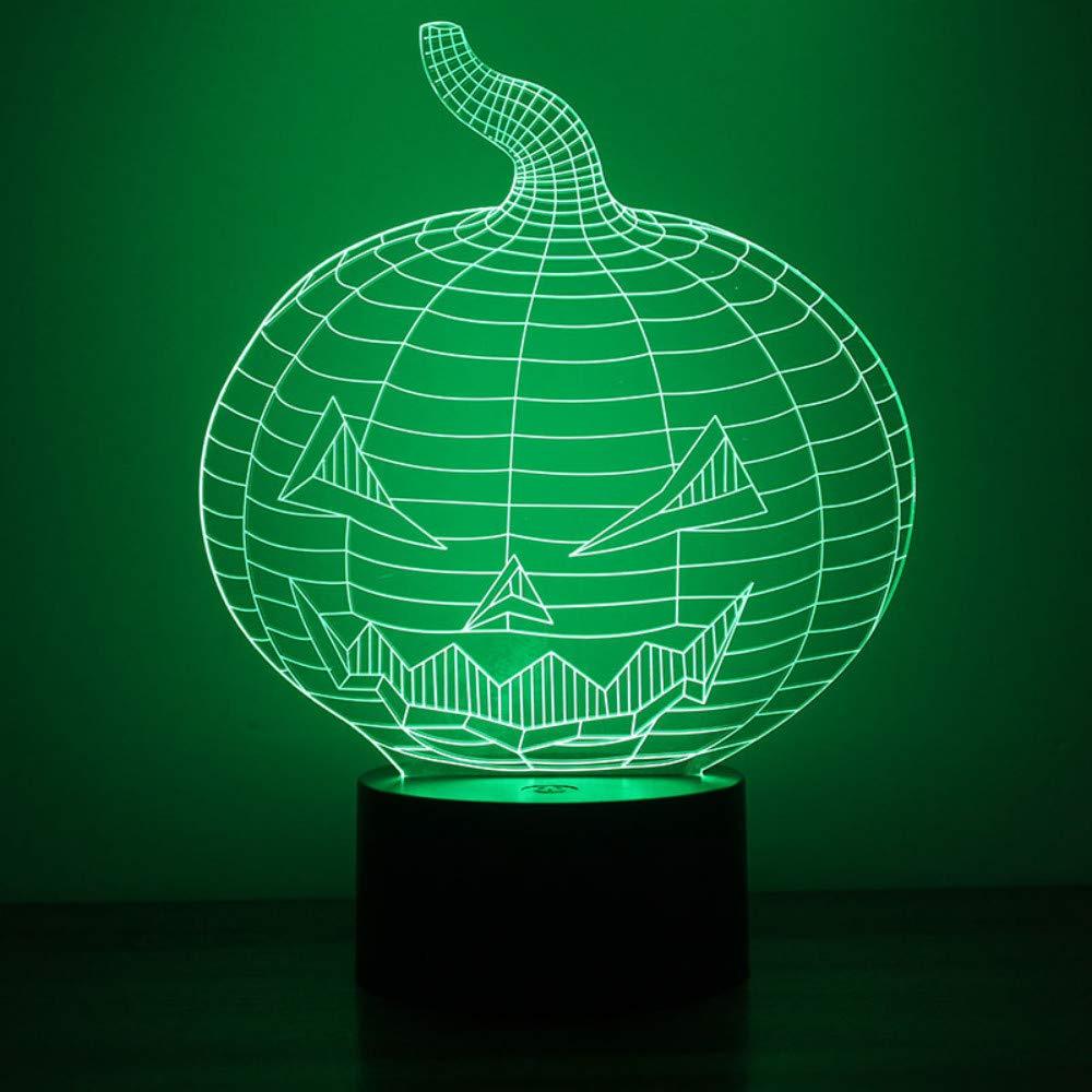 3D Visuelle Led Vision Nachtlicht USB Tischlampe Lampara Stimmung Dimmen Kreative Halloween Kürbis Lampe Decor Leuchte Geschenke