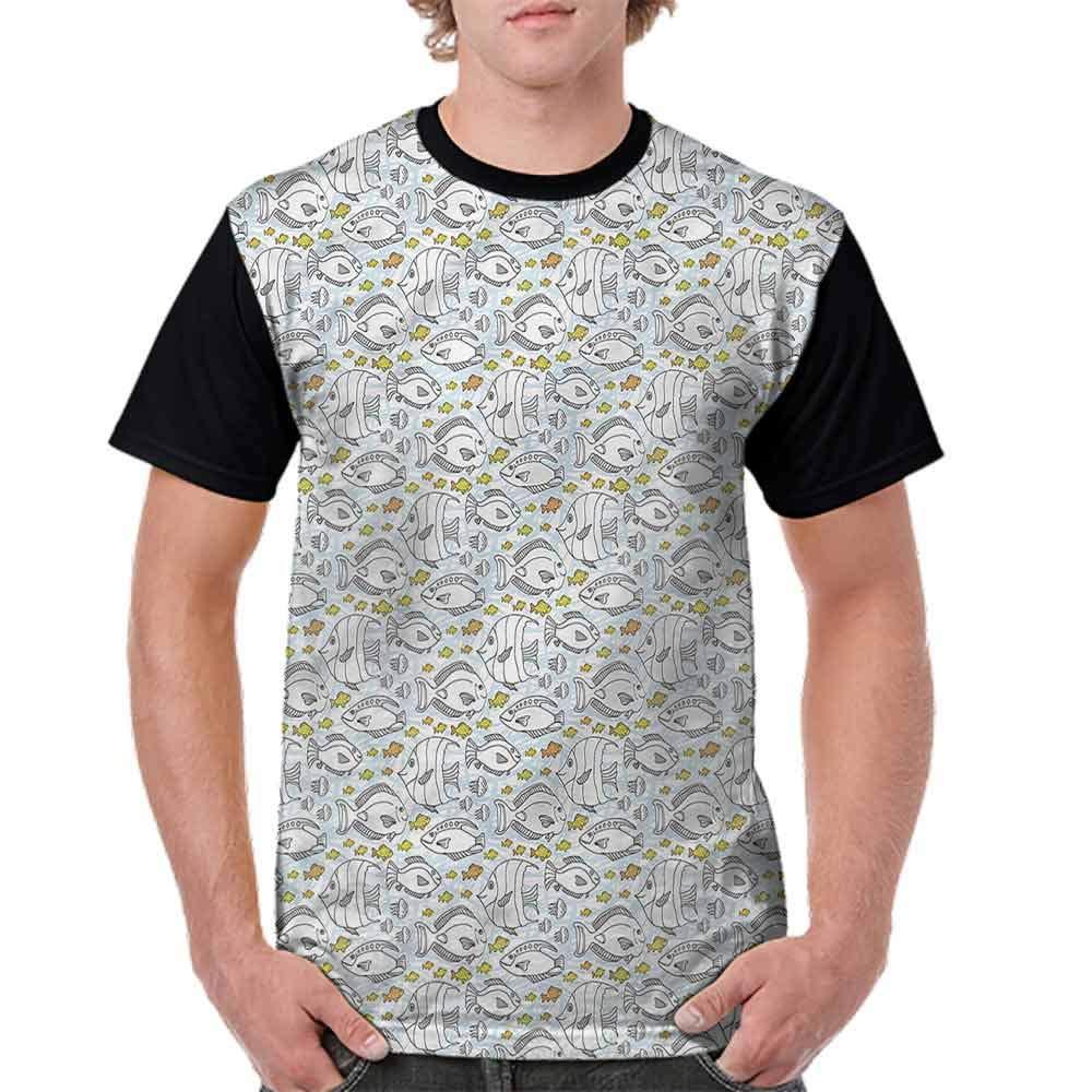 BlountDecor Cotton T-Shirt,Funny Sea Creatures Fashion Personality Customization