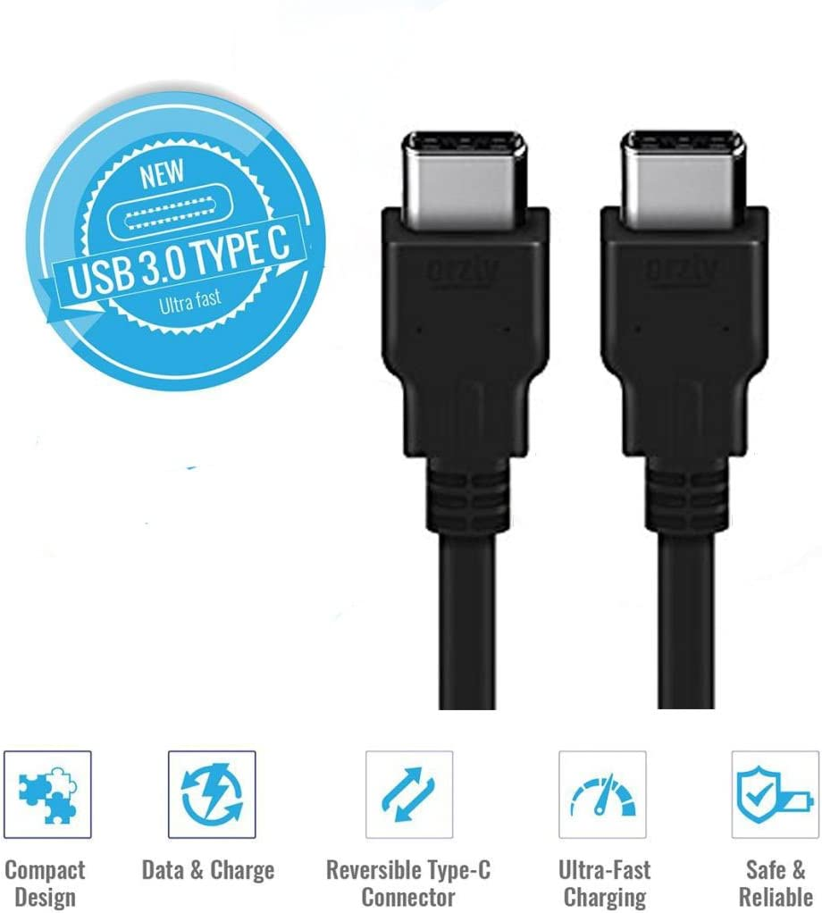 Specific Models Only Huetron TM 3 FT USB Type C Male to USB 3.0 A-Male Cable for LG
