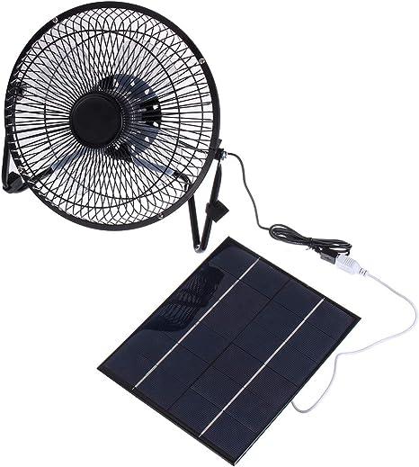 BouBou 6V 6W Ventilador De Panel Solar USB Ultra Silencioso De 8 ...