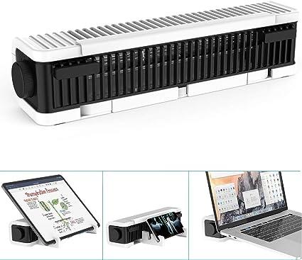 【3in1 ノートパソコン冷却ファン・スタンド・扇風機】【Klearlook 最強力冷却プラン】ノートパソコン冷却台 PC/タブレット/スマートフォン冷却パッド 滑り止め 高度調整可 横置き/縦置き スタンド USB扇風機 3段階風量調節可 ノートPCクーラー ホワイト