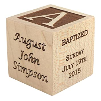Amazon personalized baby baptism gifts baptism wood block personalized baby baptism gifts baptism wood block baptism gifts for godparents baby boy negle Choice Image