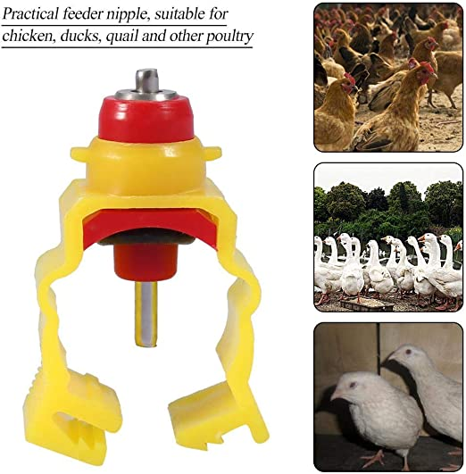 20mm//0.79in 20pcs//pack Snap and Lock Nipples Water Drinking Nipples Automatic Chicken Feeder Dispenser Water Nipple Feeder Nipple Drinker for Poultry Chicken Duck Hen Farming