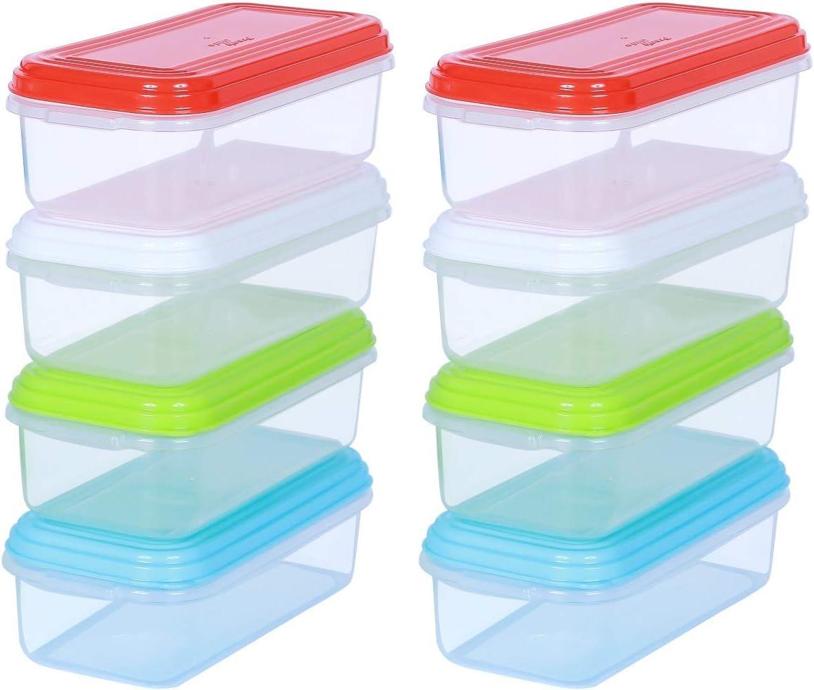 ARSUK Tarritos para comida de bebé 250 ml, Alimentación infantil envases de conservación de plástico reutilizables sin BPA, apilables aptos para microondas y congelador (8 piezas)
