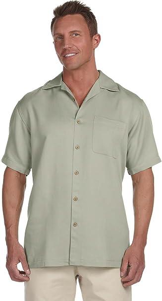4c13e33bfd9 Harriton Men s Bahama Cord Camp Shirt at Amazon Men s Clothing store ...