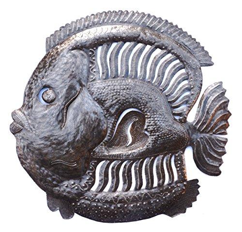 Handmade Haitian Metal Art Fish Under Water 23