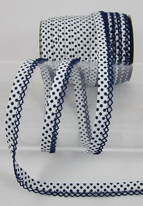 Gerhardt Ruban Oblique avec Ruban /à Crochet 1 m/ètre Rose Clair Pois au m/ètre Coutures