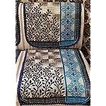 Griiham Premium Contemporary Leaves Design Sofa Cover for 5 Seater Sofa – (3+1+1) 90% Cotton 10% Polyster AT16