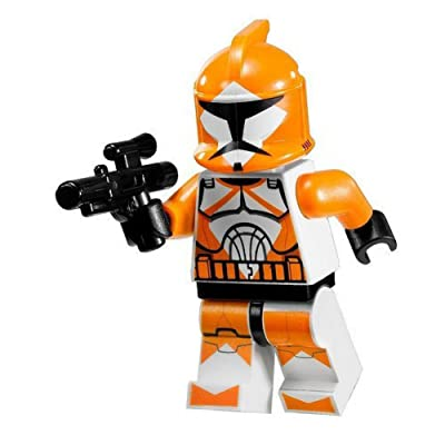 Star Wars Lego Minifigure - Orange Bomb Squad Trooper with Blaster Gun (7913): Toys & Games