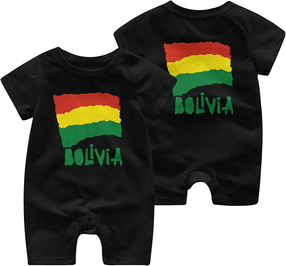 AYL8pf Bolivia Flag Toddler Baby Boy Romper Outfits One Piece Baby Clothes