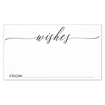 Wishing Well Wedding.Wedding Wishes Cards For Wishing Well Small Card Size 3 5 X 2 Inches Pack Of 50