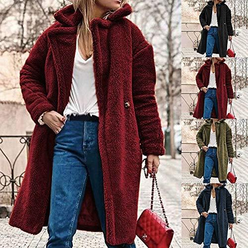 Women Coat Mujer Invierno Casual Caliente Chaqueta Parka Abrigo sólido Outwear Capa Outercoat: Amazon.es: Ropa y accesorios