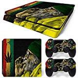 GoldenDeal PS4 Slim Skin and DualShock 4 Skin – Weed 420 – PlayStation 4 Slim Vinyl Sticker for Console and Controller Skin Review