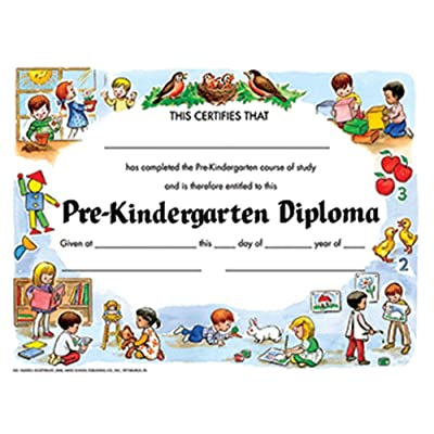 "Hayes Pre-Kindergarten Diploma, 8.5"" x 11"", Pack of 30: Toys & Games"