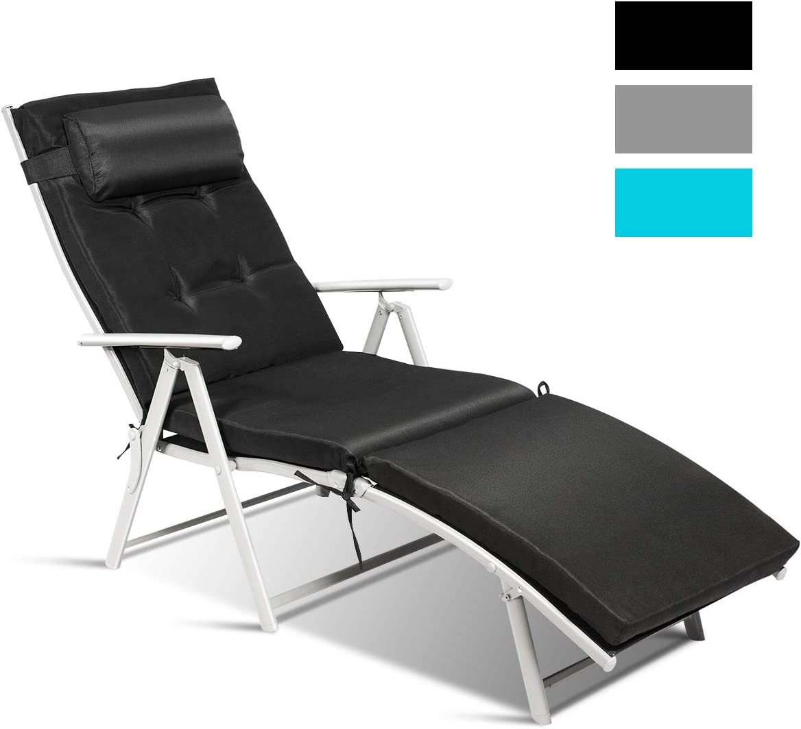 - Amazon.com: Tangkula Outdoor Folding Chaise Lounge Chair