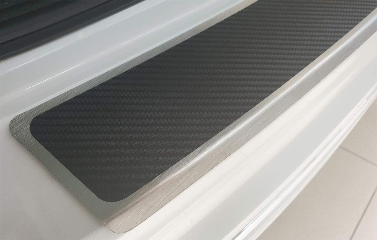 Wgs Ladekantenschutz Stoßstangenschutz Lackschutz Mit Abkantung Carbon Auf Alunox 1380 504 Auto