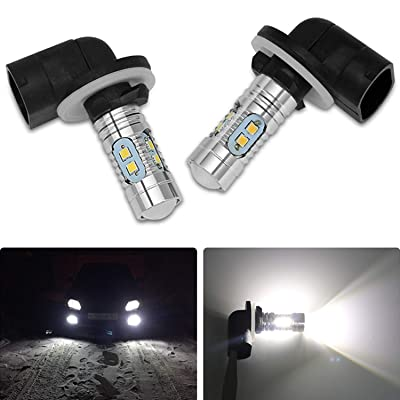 CCAUTOVIE Fog Light 881 LED Super 6000K White Headlights Bulbs Lamp for Polaris Sportsman/Ranger: Automotive
