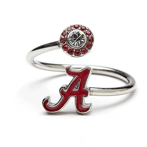 University of Alabama Ring Alabama Jewelry Adjustable Stainless Steel Alabama Ring Alabama Crimson Tide Gift