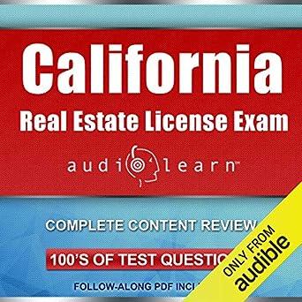 Amazon com: California Real Estate License Exam AudioLearn