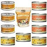 Merrick Grain Free Canned Dog Food 3 Flavor Variety Bundle (9 Cans, 3.2 Oz Ea) Plus Merrick Grammy's Pot Pie Kitchen Bites Dog Biscuits (1 Bag, 9 Oz) -- 10 Items Total