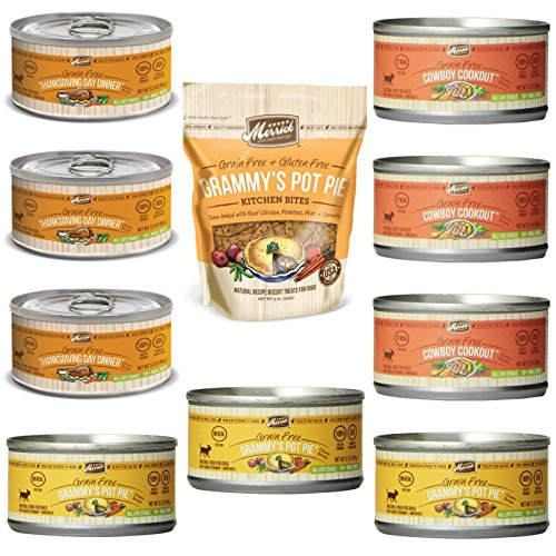 Merrick Grain Free Canned Dog Food 3 Flavor Variety Bundle