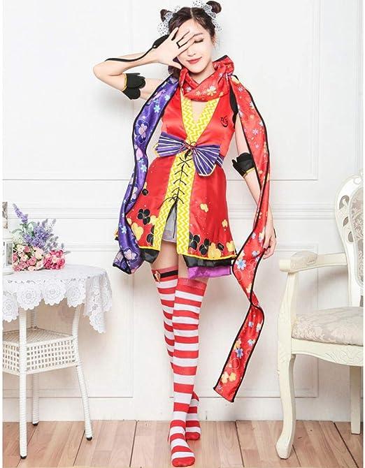 DEXIAOBANG - Disfraz de Ninja de Nicole Ninja para Mujer, Vestido ...