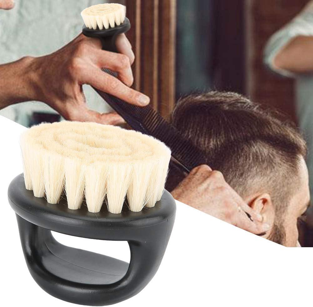 Nannday Cepillo de Barba, Cepillo de Afeitar de Barba portátil Suave Salón Cuello Cara removedor de Polvo para el Cabello Cepillo de Limpieza Cuidado de la Barba Herramienta de Aseo (Negro)