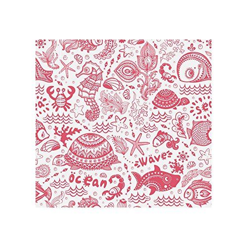 InterestPrint Red Ocean Fish Shell Neoprene Water Bottle Sleeve Insulated Holder Bag 16.90oz-21.12oz, Nautical Turtle Sport Outdoor Protable Cooler Carrier Case Pouch Cover with Handle by InterestPrint (Image #5)
