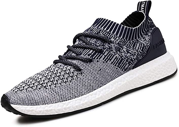 2019 Chaussure Homme Basket Ete Running Shoes Coussin d'air Knit Sneakers Respirantes Chaussure Homme Sport Fitness Jogging Multicolore