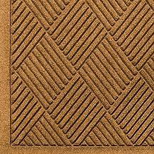 Andersen 221 Waterhog Fashion Diamond Polypropylene Fiber Entrance Indoor Floor Mat, SBR Rubber Backing, 5-Feet Length X 3-Feet Width, 3/8-Inch Thick, Gold