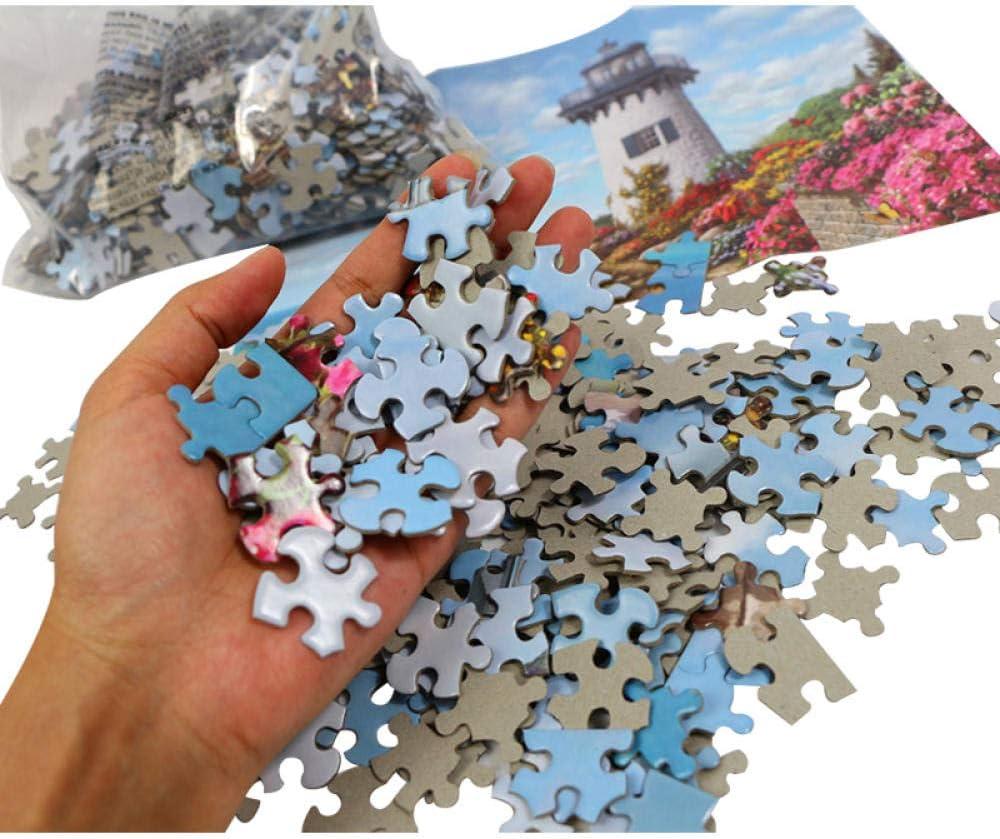 wgkgh Jigsaw Puzzle Erwachsenen Puzzle Kinder Dorf Unter Dem Hügel 500 1000 Teile 3D DIY Puzzle Spiel Puzzles Klassische Puzzle Gehirn Iq Entwicklung Von Lernspielzeug 1
