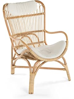Ordinaire Kouboo 1110018 Rattan Loop Lounge Chair With Seat And Head Cushion, Natural  Color, Large