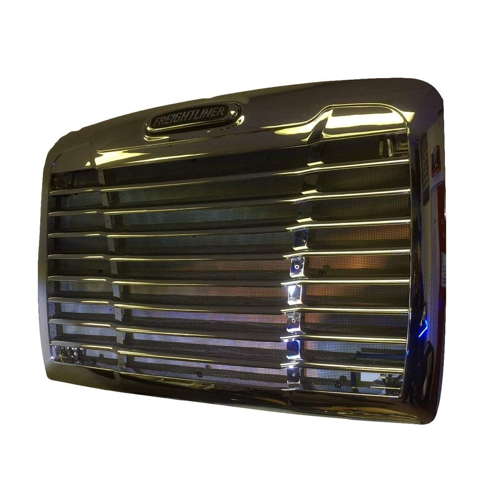 Compatible For Freightliner Century 2005 Chrome Triple Plated Front Hood Radiator Grill Grille With Bug Screen Replaces A1719112000 A1715624003