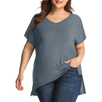 LARACE Women Plus Size Tops Casual Short Sleeve Under Shirts Summer Tee at Women's Clothing store