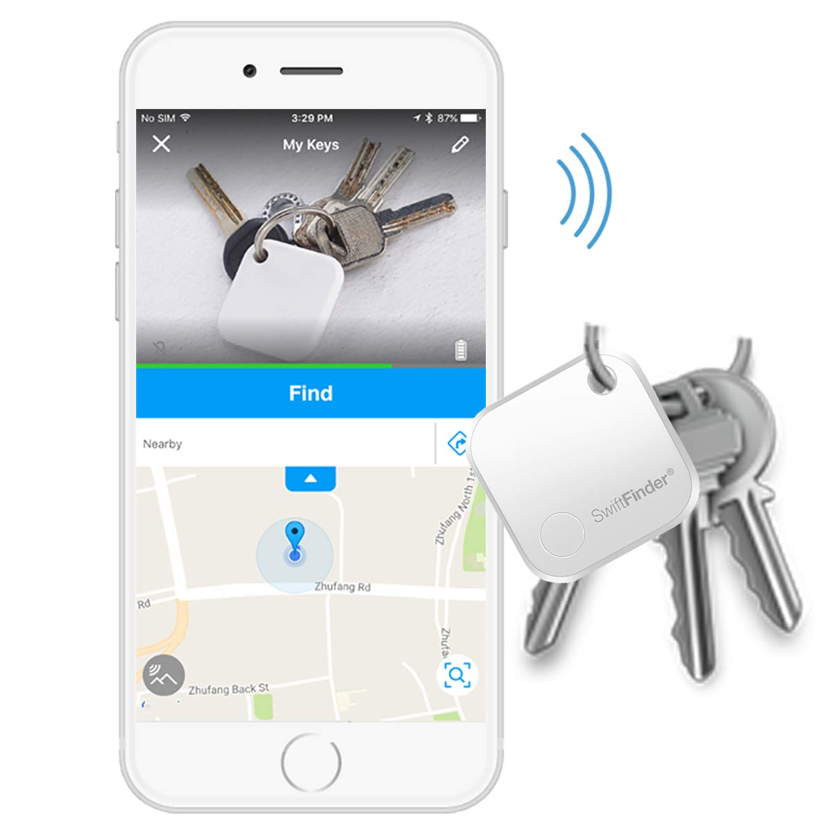 Key Finder Locator,Key Finder,Phone Finder,Bluetooth Tracker for Keys,Wallet,Bag,Luggage,Smart Tag with App Control