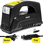 Kensun AC/DC Digital Tire Inflator for Car 12V DC and Home 110V AC Rapid Performance Portable Air Compressor Pump for Car, Bicycle, Motorcycle, Basketball