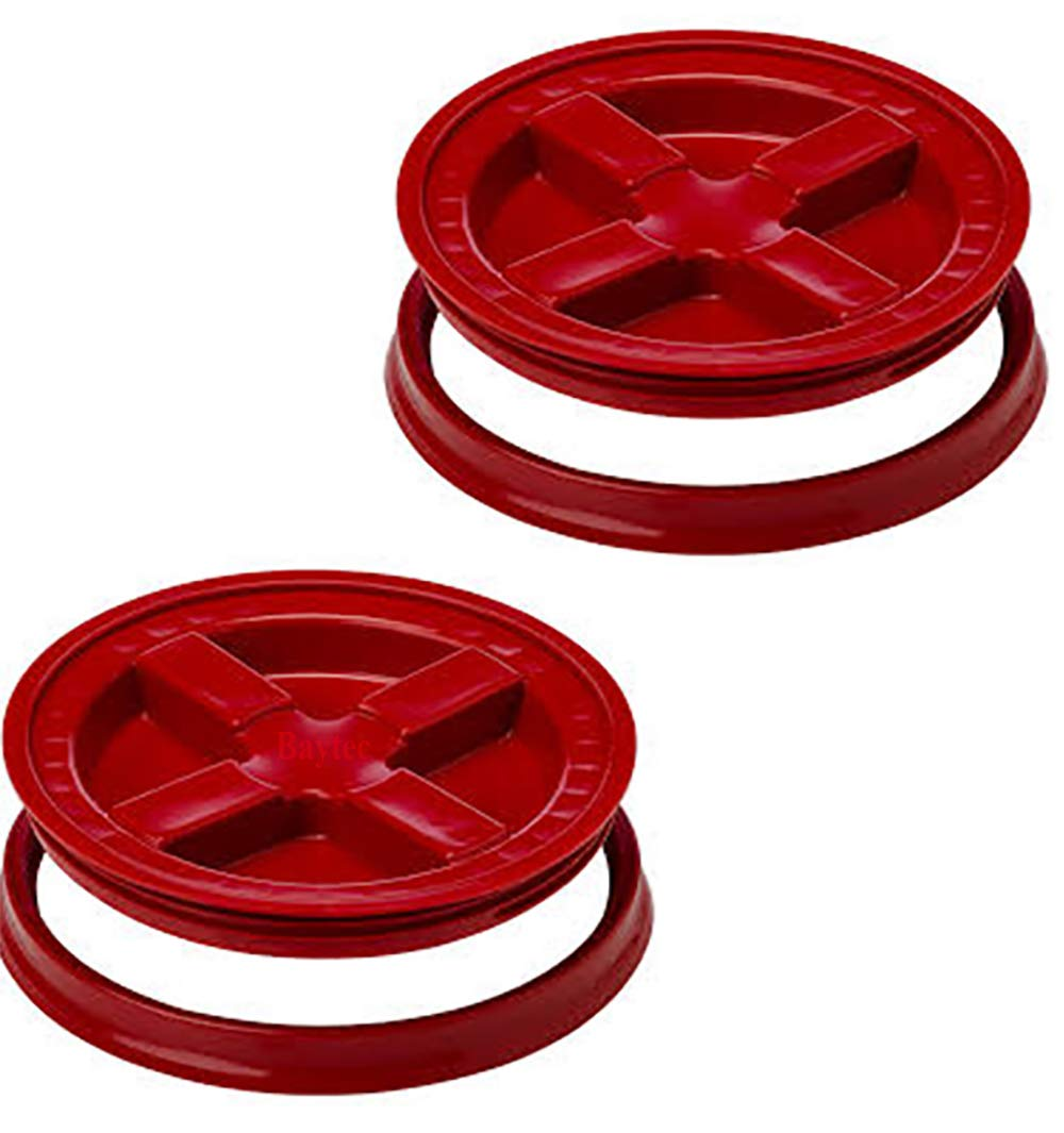 5 Gallon Red Gamma Seal Lid | 2 Pack
