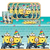 Despicable Me 2 Minions Children's Birthday Complete Party Tableware Pack for 16 by Balloons and Party