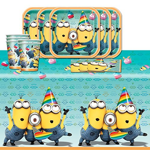 Despicable Me 2 Minions Children's Birthday Complete Party Tableware Pack for 16 by Balloons and Party by Balloons and Party