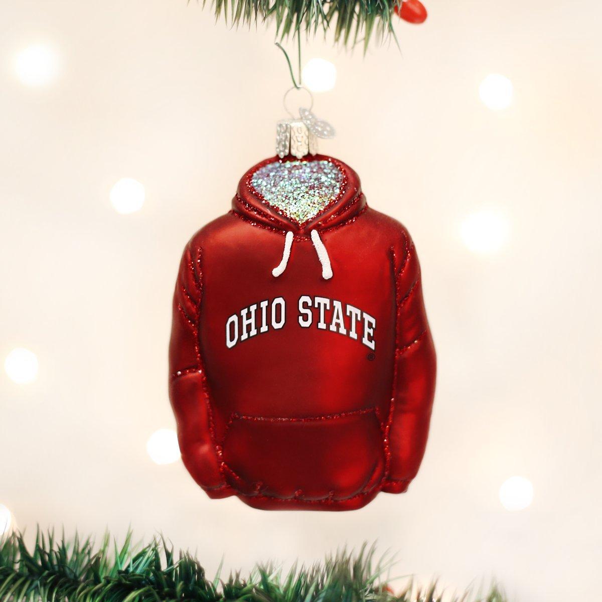 Amazon.com: Old World Christmas Ornaments: Ohio State Pennant Glass ...