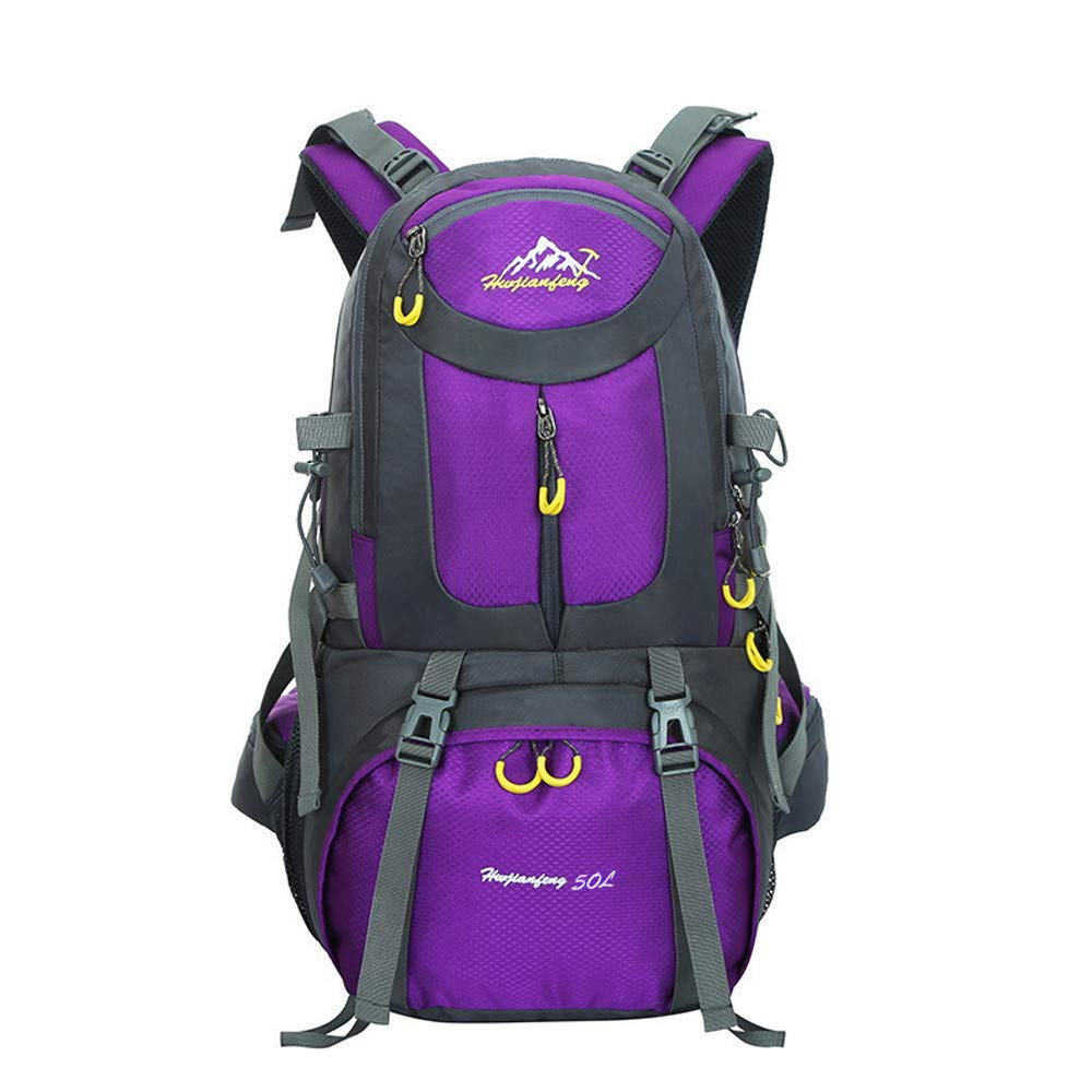 Excursion Sports 50L Lightweight Soprts Backpack, Large Capacity Travel Rucksack, Durable Water Resistant Travel Hiking Camping Outdoor Daypack for Women Men by Excursion Sports