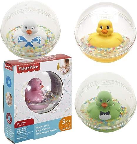 Fisher-Price - Patito a flote amarillo, juguete de baño para bebé (Mattel 75676): Amazon.es: Juguetes y juegos