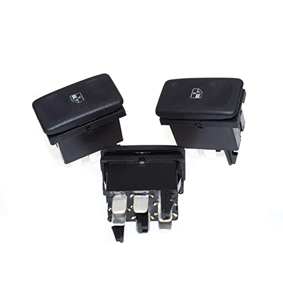 Potencia Ventana Interruptor 3pcs 191959855 nuevo para Golf Ibiza Cordoba 1985 - 1992: Amazon.es: Coche y moto