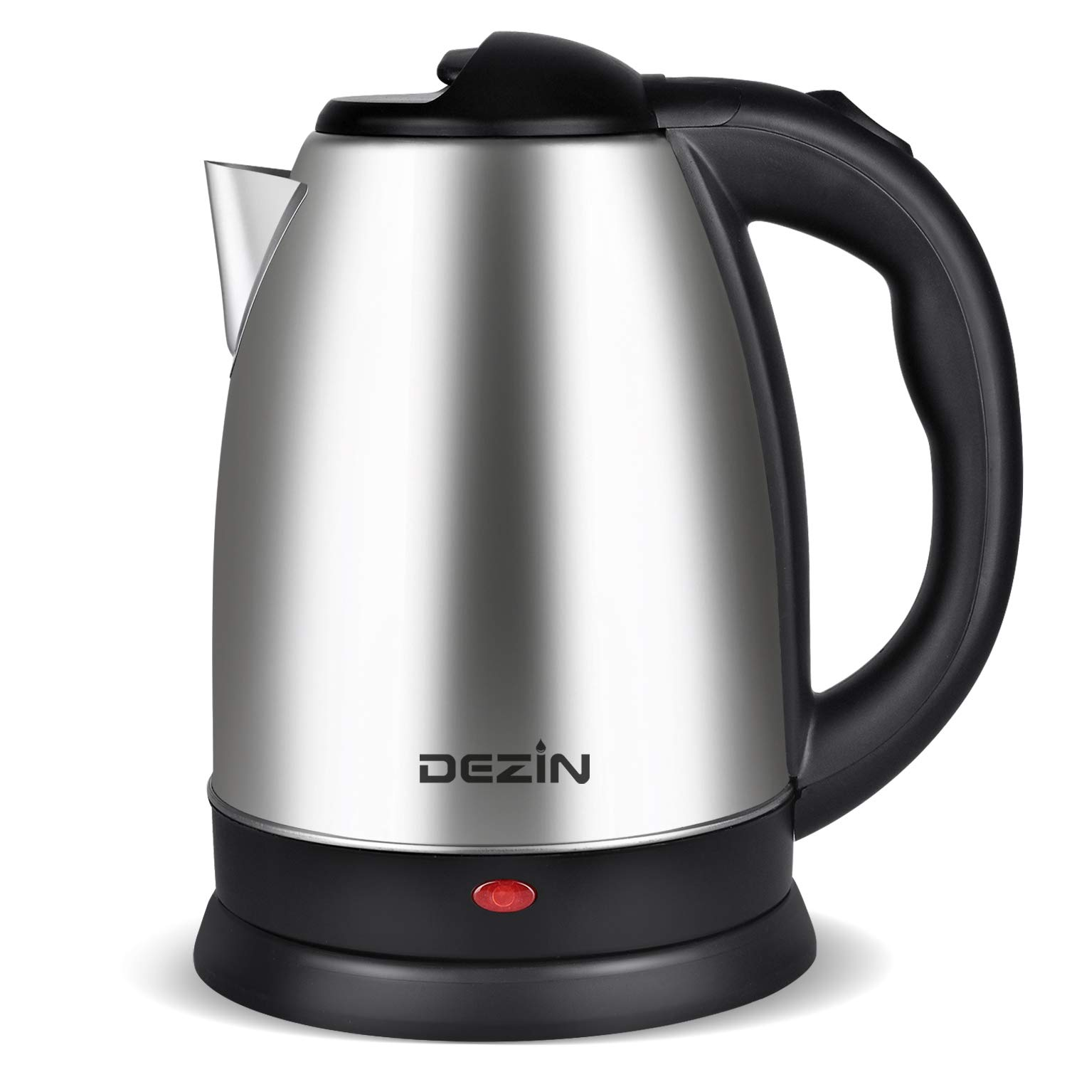 Dezin Electric Kettle Water Heater Upgraded, 2L Stainless Steel Cordless Tea Kettle Boiler, Fast Boil Water Warmer with Auto Shut Off and Boil Dry Protection Tech for Coffee, Tea, Beverages by DEZIN