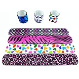 "Novelty Place Animal/Heart Print Slap Bracelets Party Wrist Strap for Adult Teens Kids - 9"" Assorted Colors (Pack of 25)"