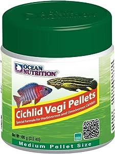 Ocean Nutrition Cichlid Vegi Pellets 3.5-Ounce (100 Grams) Jar - Medium Pellet Size