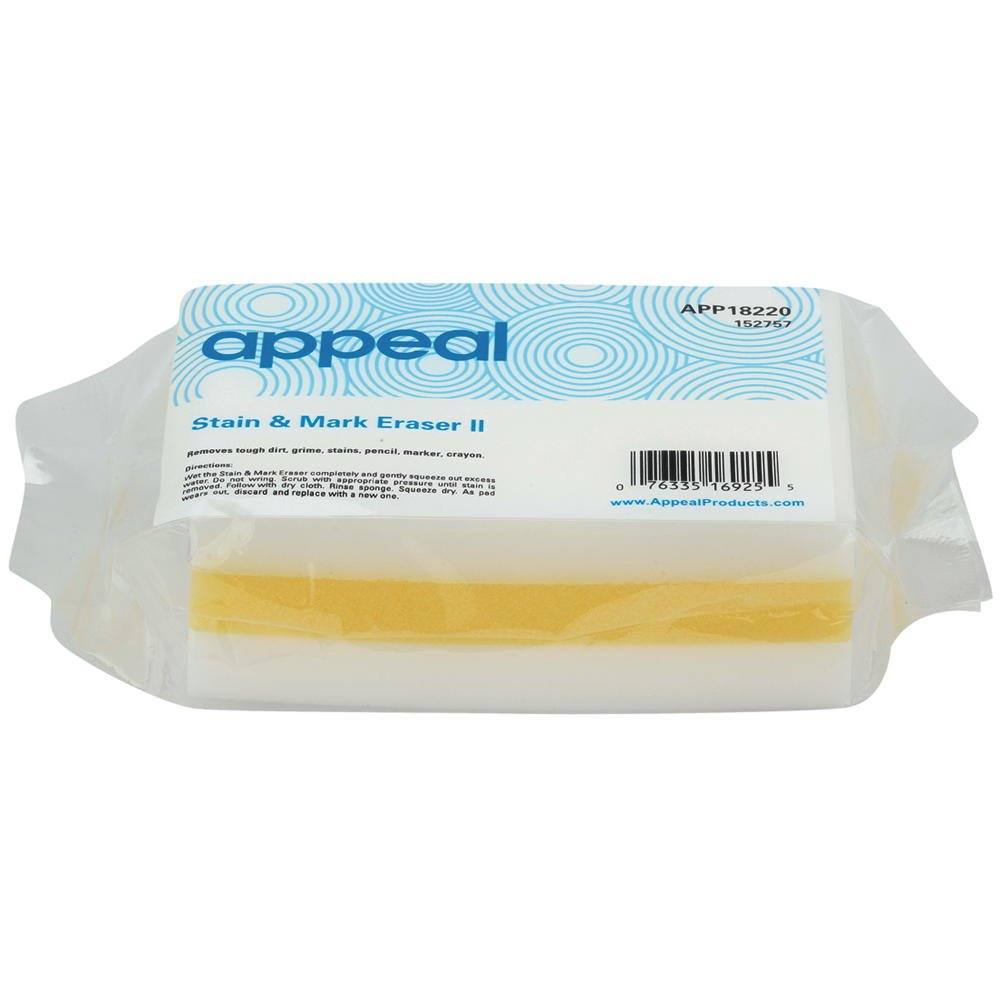 Appeal APP18220 Stain & Mark Eraser Pad, White/Yellow, 30Per Case - 152757