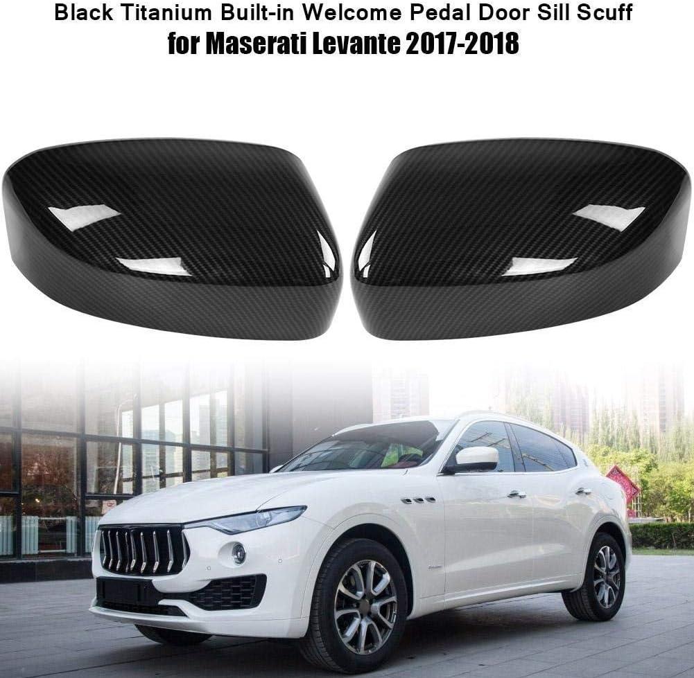 Broco 2 St/ück Carbon-Faser-R/ückseiten-Spiegel-Abdeckung Trim Dekoration for Maserati Levante 2017-2018