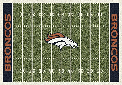 Field Denver Broncos Football Rug - Imperial Officially Licensed Home Furnishings: NFL Team Home Field Area Rug, Denver Broncos, 3'10